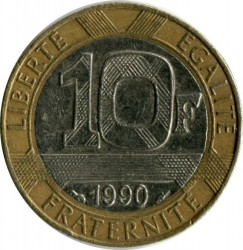 Coin > 10 francs, 1988-2001 - France  - obverse