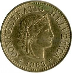 Coin > 5rappen, 1983 - Switzerland  - obverse