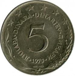 Münze > 5Dinar, 1979 - Jugoslawien  - reverse