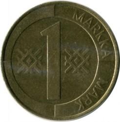 Монета > 1марка, 1993-2001 - Финляндия  - reverse