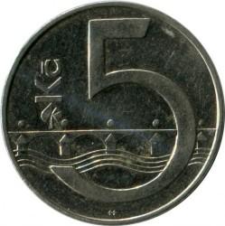 Moneta > 5corone, 1993-2019 - Repubblica Ceca  - reverse