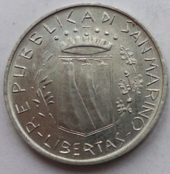 Монета > 1ліра, 1981 - Сан-Марино  (Мир) - obverse