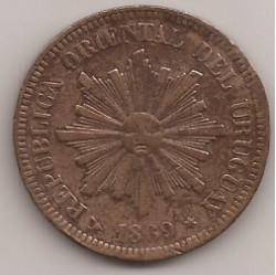 Νόμισμα > 2Σεντέσιμος, 1869 - Ουρουγουάη  - obverse