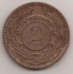 Νόμισμα > 2Σεντέσιμος, 1869 - Ουρουγουάη  - reverse