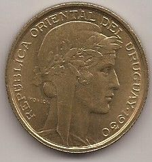 Monedă > 10centésimo, 1930 - Uruguay  - reverse