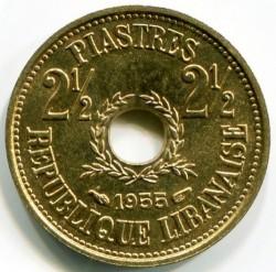 Moneta > 2½piastro, 1955 - Libanas  - reverse