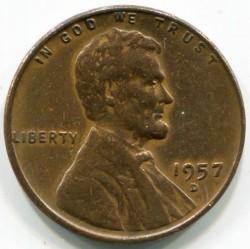 Coin > 1cent, 1957 - USA  - obverse