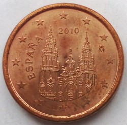 Coin > 1 cent, 2010 - Spain  - obverse