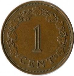 Moeda > 1cêntimo, 1972-1982 - Malta  - reverse