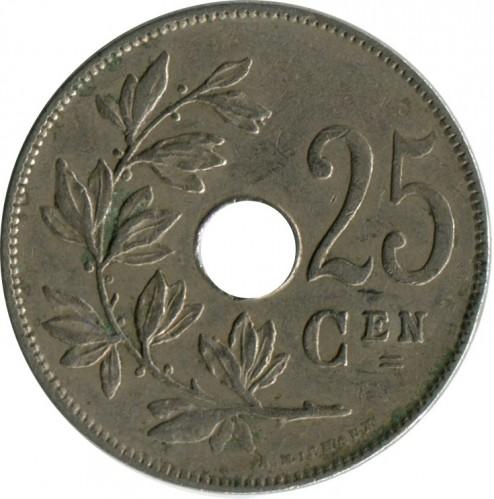 Бельгия 25 центов 1922 20 копеек 1935