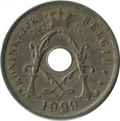 Münze > 25 Centime, 1910-1929 - Belgien  (Legend in Dutch - 'KONINGRIJK BELGIË') - reverse
