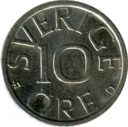Mynt > 10ore, 1989 - Sverige  - reverse