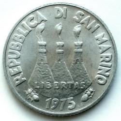 Moneda > 2lire, 1975 - San Marino  (Amor a casa dels animals) - obverse