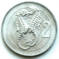 Moneda > 2lire, 1975 - San Marino  (Amor a casa dels animals) - reverse