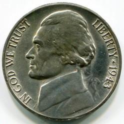 מטבע > 5סנט, 1942-1945 - ארצות הברית  (Jefferson Nickel) - obverse