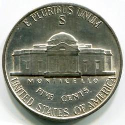 מטבע > 5סנט, 1942-1945 - ארצות הברית  (Jefferson Nickel) - reverse