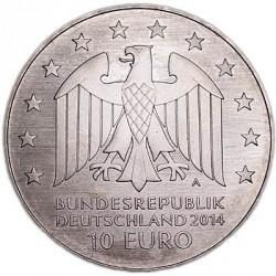 Moneda > 10euros, 2014 - Alemania  (250º Aniversario - El nacimiento de Johann Gottfried Schadow) - obverse