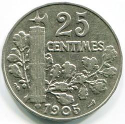 Monedă > 25centime, 1904-1905 - Franța  - reverse