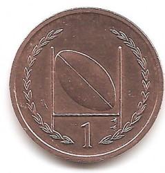 Монета > 1пенні, 1996-1998 - Острів Мен  - obverse