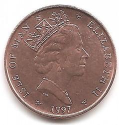Монета > 1пенні, 1996-1998 - Острів Мен  - reverse