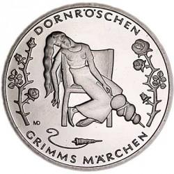 Moeda > 10euro, 2015 - Alemanha  (Contos de Grimm  –  A Bela Adormecida) - reverse