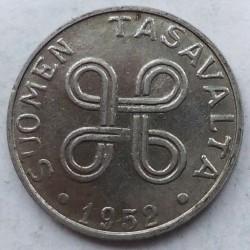 Münze > 1Mark, 1952 - Finnland  (New Type - 'SUOMEN TASAVALTA' on observe, smooth edge) - obverse