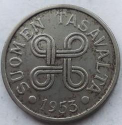 Münze > 5Mark, 1953 - Finnland  (Iron /grey color/) - obverse