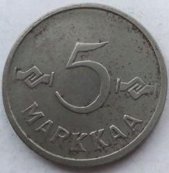 سکه > 5مارکا, 1952-1953 - فنلاند  - reverse