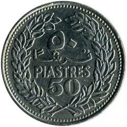 Moneta > 50piastrów, 1968-1980 - Liban  - reverse