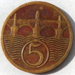 Кованица > 5хелера, 1925 - Чехословачка  - reverse
