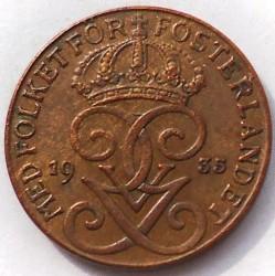 Монета > 1ере, 1910-1950 - Швеція  - obverse