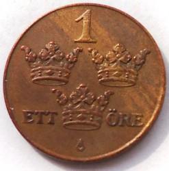 Монета > 1ере, 1910-1950 - Швеція  - reverse