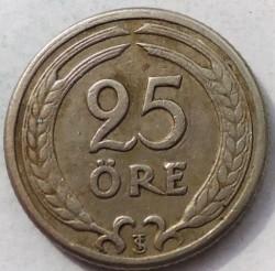 Монета > 25йоре, 1921-1947 - Швеция  - reverse