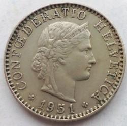 Moneda > 20rappen, 1951 - Suïssa  - obverse