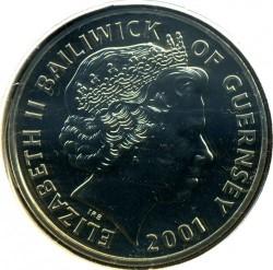 Монета > 5фунтів, 2001 - Гернсі  (75-та річниця - Народження Королеви Єлизавети ІІ) - obverse