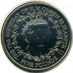 Монета > 5фунтів, 2001 - Гернсі  (75-та річниця - Народження Королеви Єлизавети ІІ) - reverse