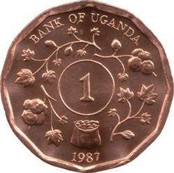 Монета > 1шиллинг, 1987 - Уганда  - reverse