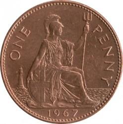 Moeda > 1pêni, 1961-1970 - Reino Unido  - reverse