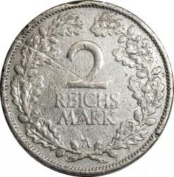 Moneda > 2reichsmark, 1925-1931 - Alemania  - reverse