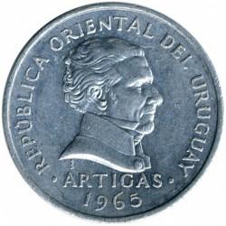 Монета > 50сентесимо, 1965 - Уругвай  - reverse