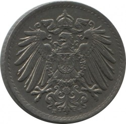 Кованица > 5фенинга, 1915-1922 - Немачка  - reverse