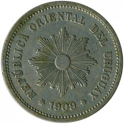 Moeda > 5centésimos, 1901-1941 - Uruguai  - reverse
