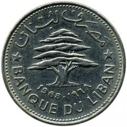 Moneta > 50piastrów, 1968-1980 - Liban  - obverse