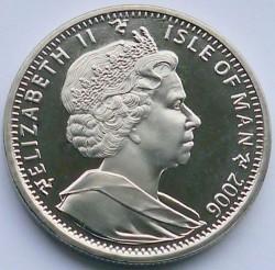 Moneda > 1corona, 2006 - Isla de Man  (Aviación de la Segunda Guerra Mundial - Supermarine Spitfire) - obverse