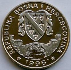 מטבע > 500דינר, 1996 - בוסניה והרצגובינה  (Preserve Planet Earth - Goosander) - obverse