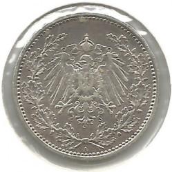 Кованица > 50фенинга, 1896-1903 - Немачка  - obverse