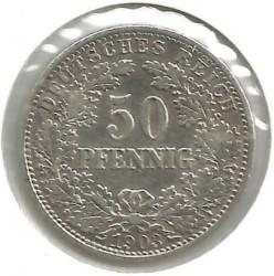 Кованица > 50фенинга, 1896-1903 - Немачка  - reverse