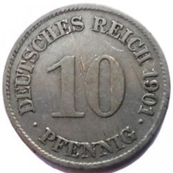 Moneda > 10peniques, 1890-1916 - Alemania  - reverse