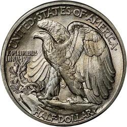 Moneta > ½dolara, 1916-1947 - USA  (Walking Liberty Half Dollar) - reverse