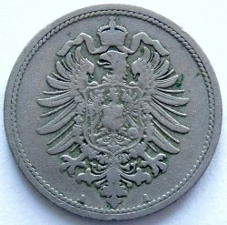 Кованица > 10фенинга, 1873-1889 - Немачка  - obverse